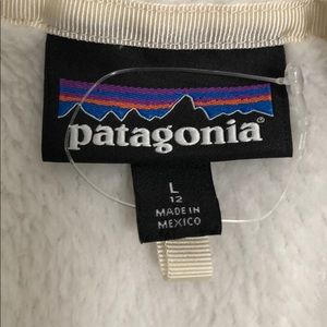 Patagonia fleece pullover-off white